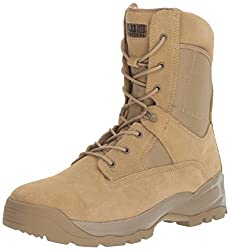 6a1b21d64 These 5.11 Tactical Boots are made of leather and they have a synthetic  sole.