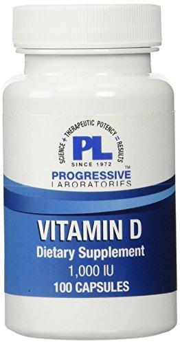 Progressive Labs Vitamin D Tablets, 100 Count