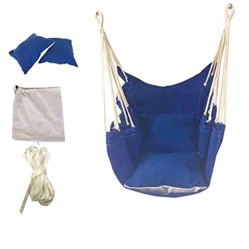 Kuncg Hängesessel Stoffsessel Schwebesessel Hängekorb mit Extrem gemütlichem Dicken Sitzkissen