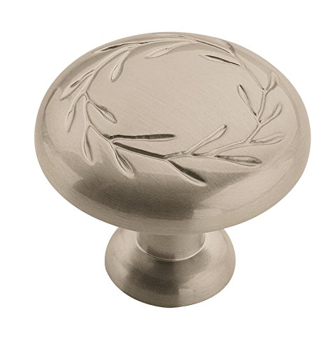 Amerock BP1581G10 Nature's Splendor Cabinet Knob, 1-1/4-Inch, Satin Nickel Amerock Nature Cabinet Knob
