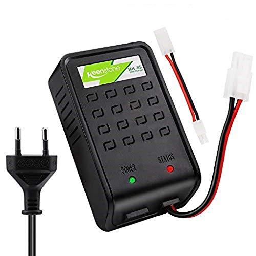 ZHITING Airsoft Ladegerät Mini Stecker Standard Adapter für 1-8s NiMH Akkus, Softair Akkus / Batterien 1.2V 2.4V 3.6V 4.8V 6V 7.2V 8.4V 9.6V