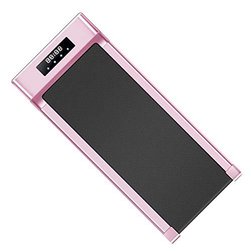 Elettrico Tapis Roulant per Under Desk,2.0HP Camminare Tapis Roulant Sprinter con Display LCD Bluetooth Telecomando,Palestra di Casa Ufficio Esercizio Cardio Rosa Supporto100 kg