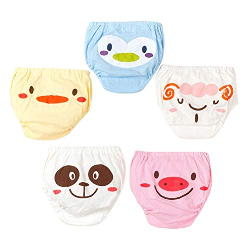 YeahiBaby 5pcs Baby Potty Training Pantalon Toddler Coton Briefs Cartoon Slip Couche Nappy Underwear Taille XL