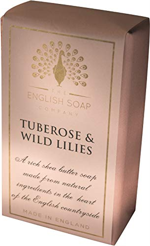 The English Soap Company, Pure Indulgence Tuberose and Wild Lilies, Shea Butter Soap, 200g