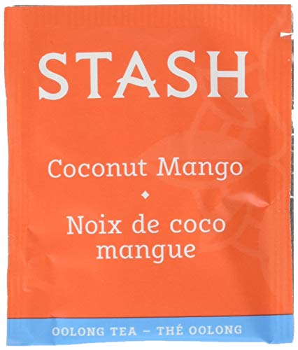 Stash Tea Coconut Mango Oolong Tea, Box of 100 Tea Bags