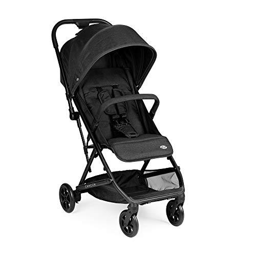 Innovaciones MS Cancún 21320 - Silla De Paseo Bebé, Plegable, Compacta y Ligera Hasta 22 Kg -Color Negro