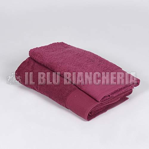 Happidea F571316301071IM313 handdoek, 100% katoen, Amarena, 60 x 110 cm