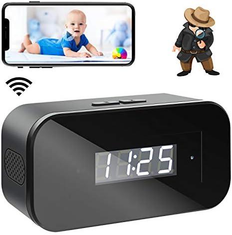 Mini Spy Camera 1080 Wireless Hidden Camera Clock Portable WiFi Nanny Cam with Night Vision product image