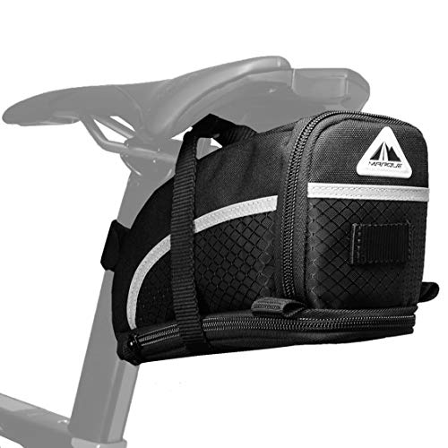 Best Review Of MARQUE Capsule Bike Saddle Bag - Bicycle Under seat Storage for Road and Mountain bik...