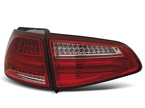 1 paar achterlichten Golf 7 13-17 rood wit LED LTI (WG4)