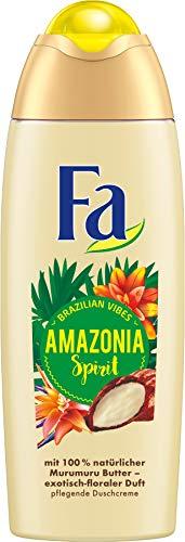 FA Duschcreme Brazilian Vibes Amazonia Spirit mit 100% natürlicher Murumuru Butter und exotisch-floralem Duft, 1er Pack (1 x 250 ml)