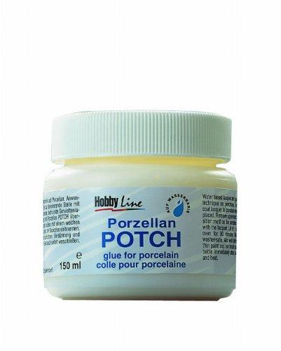 Kreul 49451 - Porzellan Potch, 150 ml Dose, transparenter Serviettenkleber und Lack für Gestaltungen auf Porzellan und Glas, auf Wasserbasis