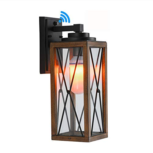 Dusk to Dawn Sensor Outdoor Wall Lantern 16'H Waterproof Exterior Wall...