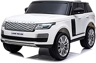 Licensed Land Rover Range Rover HSE 12V Electric Ride on Car with Remote Control for Kids, 2 Seaters, MP3, Bluetooth, Leather Seats, Openable Doors, LED Lights, Four Wheels Spring Suspension - White