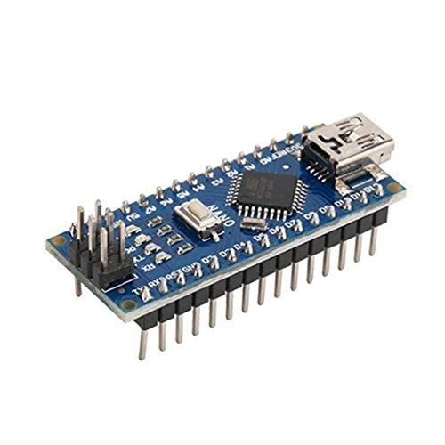 Kaemma Nano ATMEGA328P Mini-USB mit dem Bootloader Kompatibel für Arduino Nano V3.0 Controller-CH340 USB-Treiber 16 MHz (Farbe: blau)