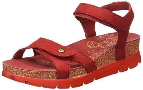 Panama Jack Sulia Basics, Sandalia con Pulsera para Mujer, Rojo (Rojo B9), 41 EU