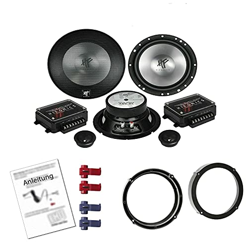 Hifonics AS 6.2C Lautsprecher mit Einbauset passend für VW Volkswagen Lupo...
