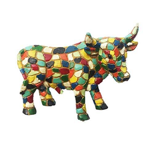 Imán para nevera con diseño de mosaico, 3D, diseño de toro de España