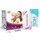 dothnix 40 x Tests de Ovulación 10MlU/Ml (Lh), Tiras de Prueba de Ovulación y 10 x Test de Embarazo Ultrasensibles (HCG),Tiras Prueba de Embarazo Nuevo Formato Económico,10 MIU/ml