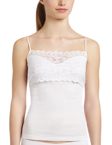 Hanro - Camiseta Interior para Mujer, Talla 46/48 (L) - Talla Alemana, Color Blanco 101