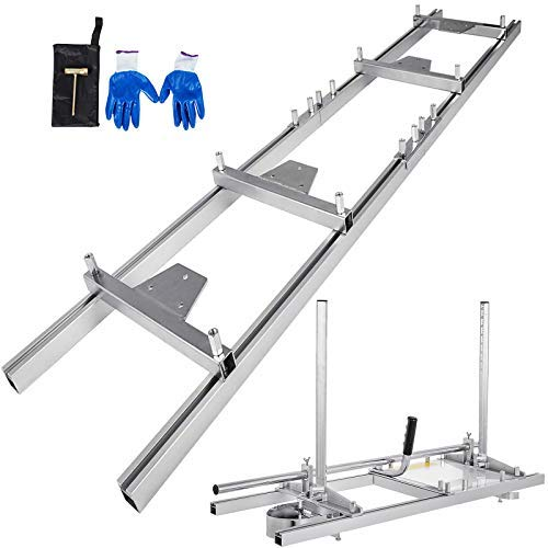 """VBENLEM Chainsaw Mill 36"""" Inch Planking Milling Bar 14"""" to 36"""" w/Rail Guide Ladder Sets"""