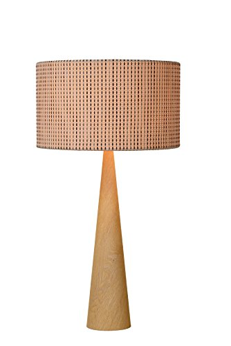 Lucide CONOS - Lampe De Table - Ø 35 cm - Bois