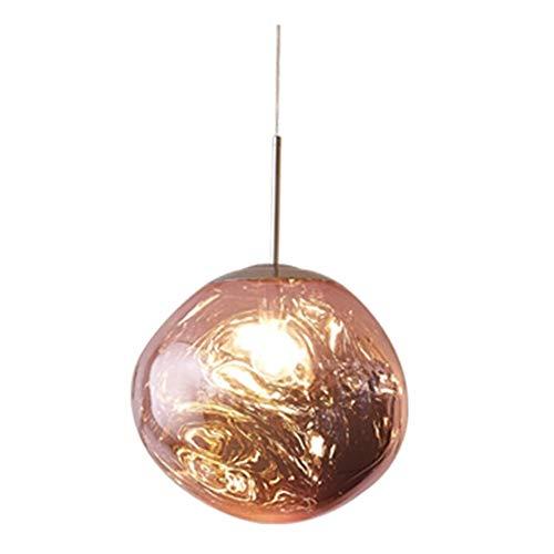Tom LED Nordic Glass Chandelier Dixon lava del pendente della sfera lampade a sospensione lampade da letto Cucina lampadario moderno di personalità Luce (Body Color : Pink, Size : 20CM)