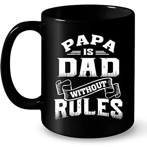 N\A Papá es papá sin Reglas BB - Taza Negra de café Envolvente