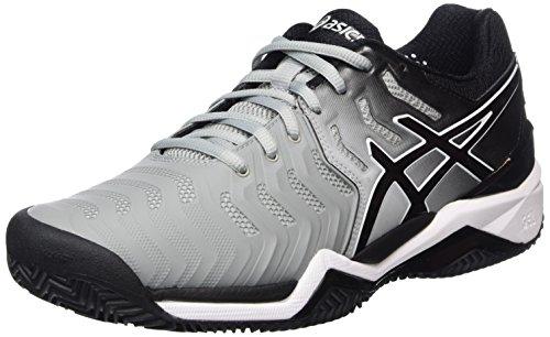 Asics Gel-Resolution 7 Clay, Zapatillas de Tenis Hombre, Gris, 40 EU