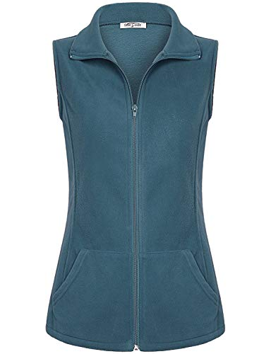 SeSe Code Vest Jacket for Women,Ladies Sleeveless Jackets Full-Zip Plush Polar Fleece Vests Teenagers Tops Activities Outings Goft Outfit Fall Clothes Blue Large