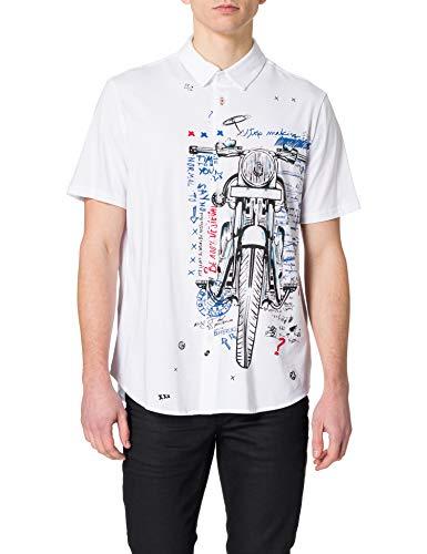 Desigual CAM_ACESTES Camiseta, Blanco, XXL para Hombre