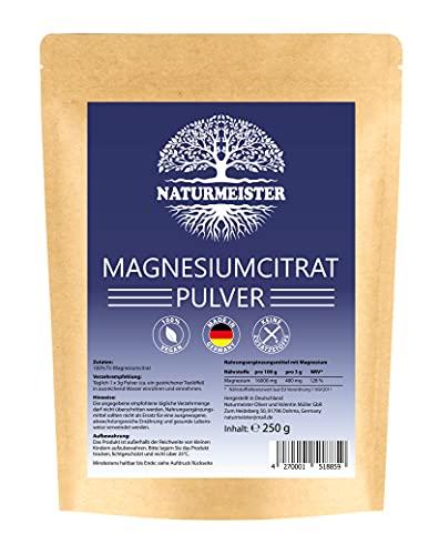 Magnesiumcitrat Pulver 250g - EINFÜHRUNGSPREIS - Made in Germany - Premium Qualität - hochdosiert - hoch bioverfügbar - laborgeprüft - reines Magnesium Pulver ohne Zusätze - vegan