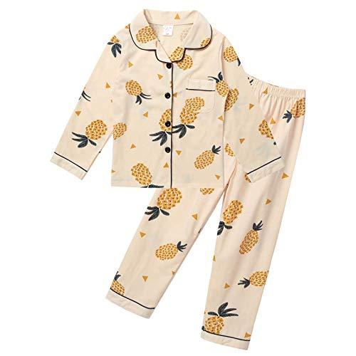 Agoky Pijamas Polar para Niñas de Manga Larga Invierno Pijamas 2 Piezas Estampados Conjuntos...