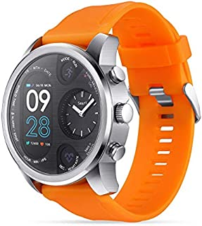$61 » Alician Sport Smart Watch Stainless Steel Fitness Activity Tracker IP68 Waterproof Smartwatch Silver orange