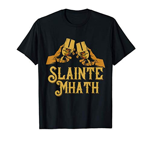 Slainte Label Whiskey Single Malt Schottland für Whiskyfans T-Shirt