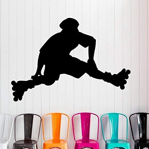 Rollschuh Skateboard Aufkleber Longboard Sport Aufkleber Kinderzimmer Poster Vinyl dekorative Wandaufkleber68X98cm