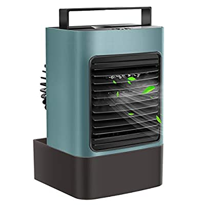 OVPPH Portable Air Conditioner Fan, Personal Air Cooler Desk Fan Mini Space Evaporative Cooler for Room Home Office Dorm (Green)