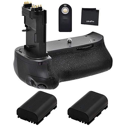 Battery Grip Bundle F/Canon EOS 70D, EOS 80D and EOS 90D: Includes BG-E14 Replacement Grip, 2-Pk LP-E6 / LP-E6N Replacement Long-Life Batteries, UltraPro Accessory Bundle