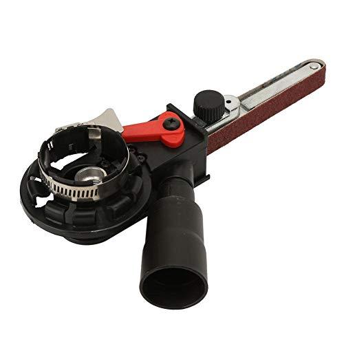 Lijadora de banda para amoladora angular, amoladora de ángulo eléctrica, adaptador de cabeza lijadora de lijadora de mini correa para amoladora angular eléctrica(M14)
