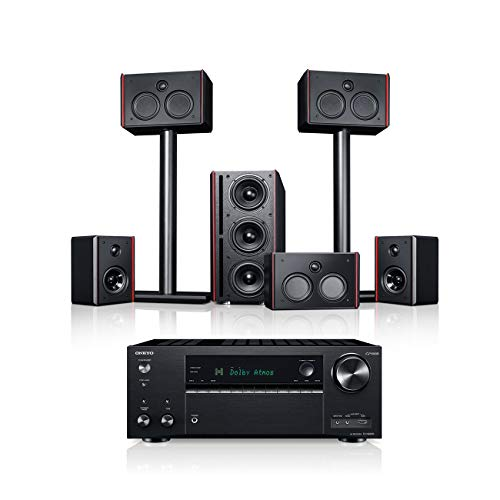 Teufel System 4 THX AVR 5.1-Set Schwarz/Schwarz Heimkino Lautsprecher 5.1 Soundanlage Kino Raumklang Surround Subwoofer Movie High-End HiFi