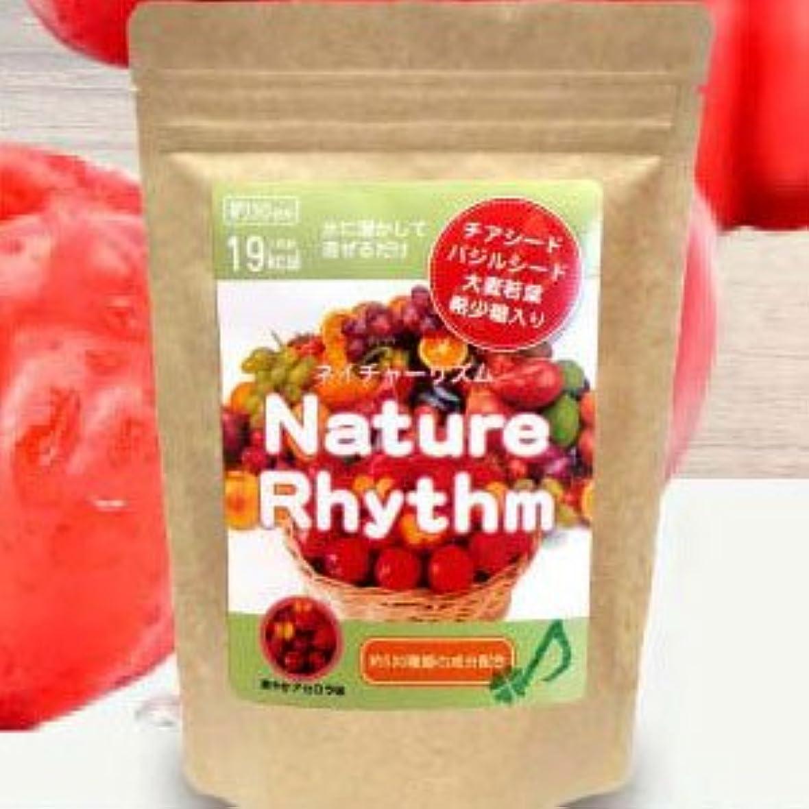 最もと組む傷つけるNature Rhythm スーパーフードMIX酵素スムージー グリーンスムージー ダイエット (爽やかアセロラ, 200g)
