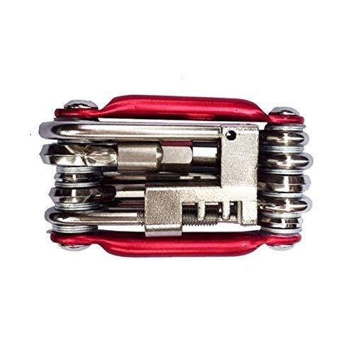 JIEJIE Outil vélo Mo-métallique Outils vélo Multifonctions Mini Pocket Bike réparation Kits Kit d'outils Tool Set 6 Hex for vélo Ouvre VTT Tool Kit QIANGQIANG (Color : Red)