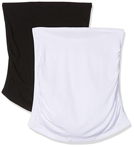Bellinella Damen Umstandsunterwäsche-Set BL1001, 2er Pack, Mehrfarbig (Schwarz and Weiß), Small (Herstellergröße: S/M)