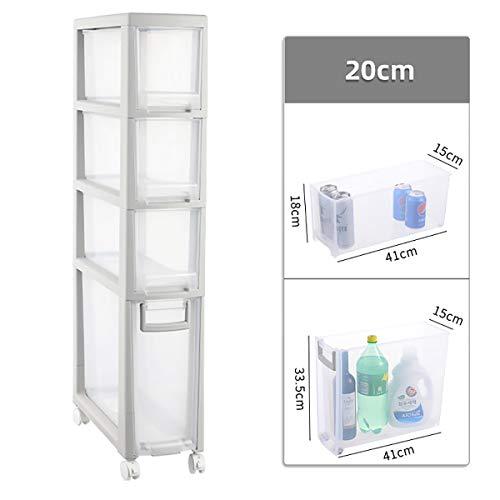 20cm Küche Crevice Lagerschrank, Badezimmer Grenzen Lagerschrank Fach-Art Regal mit Pulley ctg (Size : 4 drawers)