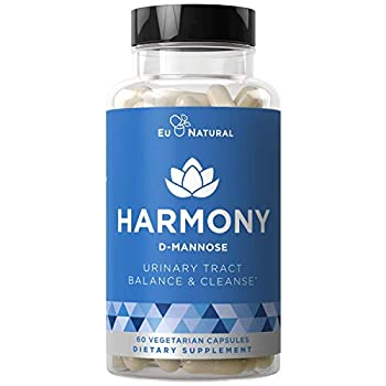 Harmony D-Mannose – Urinary Tract UT Cleanse & Bladder Health – Fast-Acting Detoxifying Strength Flush Impurities Clear System – Hibiscus Pills – 60 Vegetarian Soft Capsules