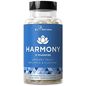 Harmony D-Mannose – Urinary Tract UT Cleanse & Bladder Health – Fast-Acting Detoxifying Strength, Flush Impurities, Clear System – Hibiscus Pills – 60 Vegetarian Soft Capsules