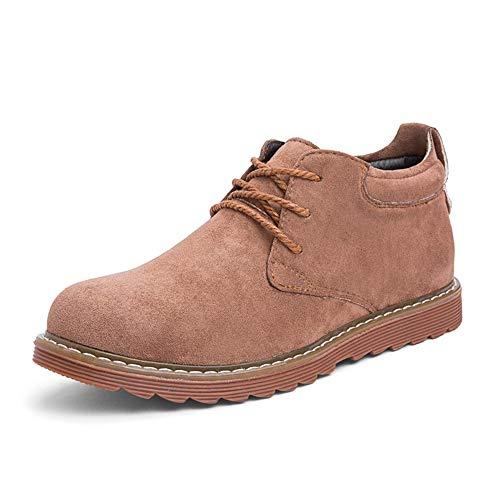 Heren Jurk Schoenen Mode Mannen Oxford Voor Werkende Enkellaarzen Vetersluiting Stijl Suede Lederen Comfortabele Klassieke Pure Kleur Ronde teen Duurzame oxford schoenen