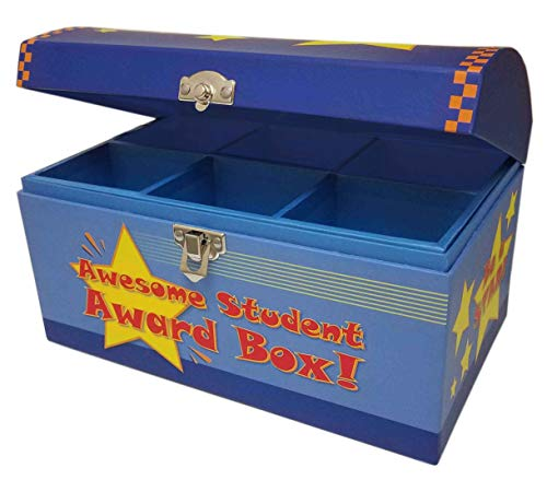 My Tiny Treasures Box Co Treasure Chest Box for Teachers and Classroom Toy Prizes for Star Students
