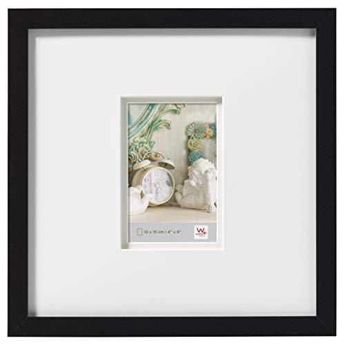 walther design Stockholm Bilderrahmen, Schwarz, 30 x 30 cm