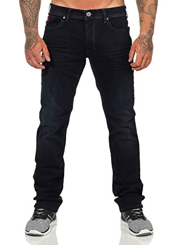 M.O.D Miracle of Denim Herren Jeans Thomas Comfort Black Blue Denim gerades Bein, Größe:W32 L32